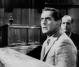 Tyrone Power, Jr. in Witness for The Prosecution (1957)