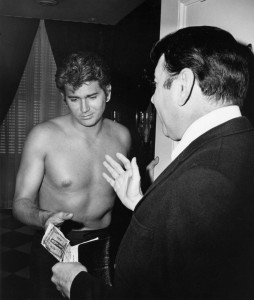 "Michael Landon (""Little Joe Cartwright"") being served with a subpoena (1968)"