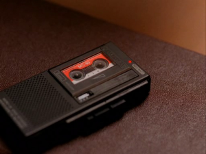 "FBI Agent Dale Cooper's recorder from ""Twin Peaks"""
